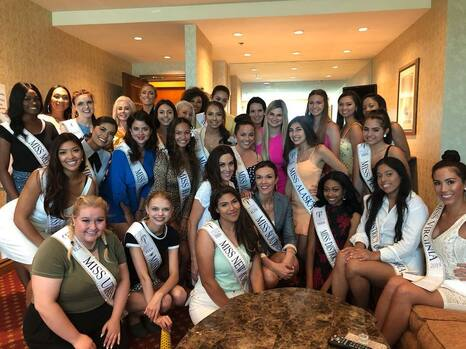 NYC Pageant Coach Jackie Schiffer with Miss Earth USA contestants